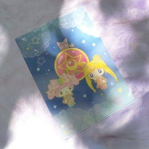 Sailor Moon & My Melody mini plastic file folder